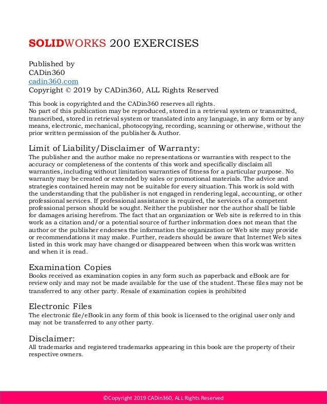 Solidworks advanced exercises pdf