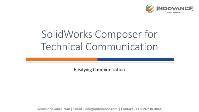 SolidWorks Composer for Effective Technical Communication
