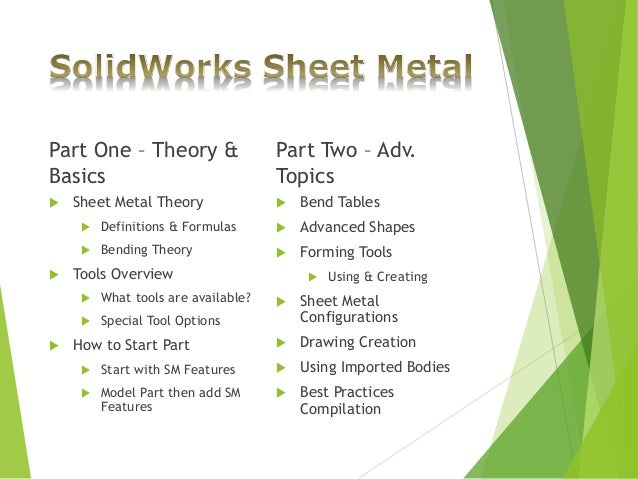 Solidworks Sheet Metal Design