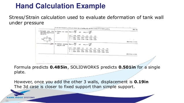 Solidworks simulation night school stress and flow analysis 56 56 hand calculation ccuart Image collections