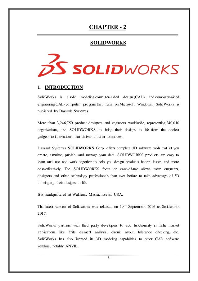 solidworks training report rh slideshare net
