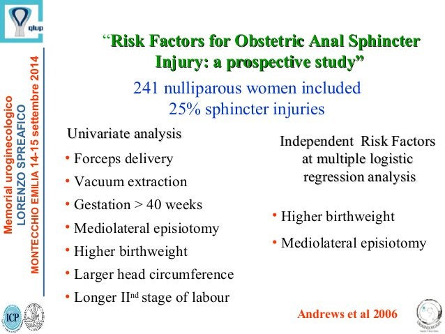 """""""Risk Factors for Obstetric Anal SphincterRisk Factors for Obstetric Anal Sphincter Injury: a prospective study""""Injury: a ..."""