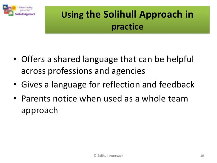 Solihull Approach Workshop