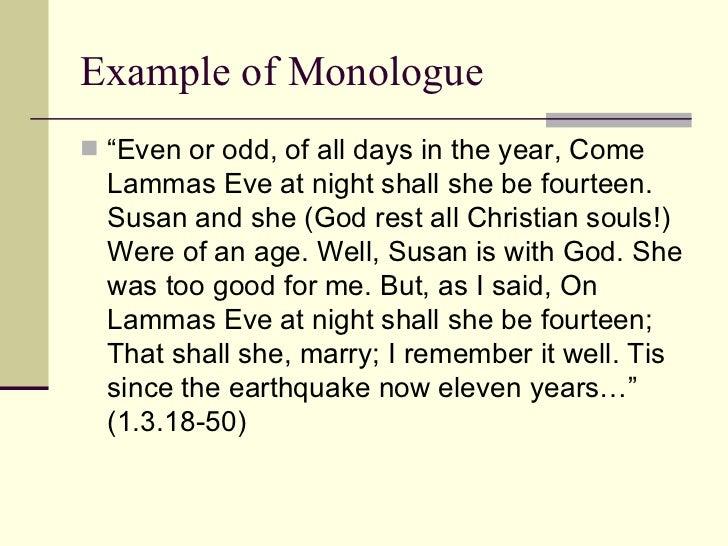 monologue format examples - Korest.jovenesambientecas.co
