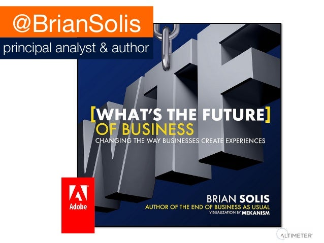@BrianSolis principal analyst & author