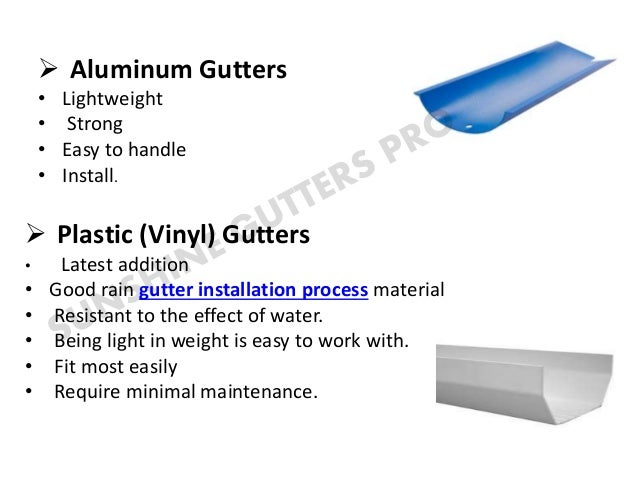 Rain Gutter Installation Process And Its Types