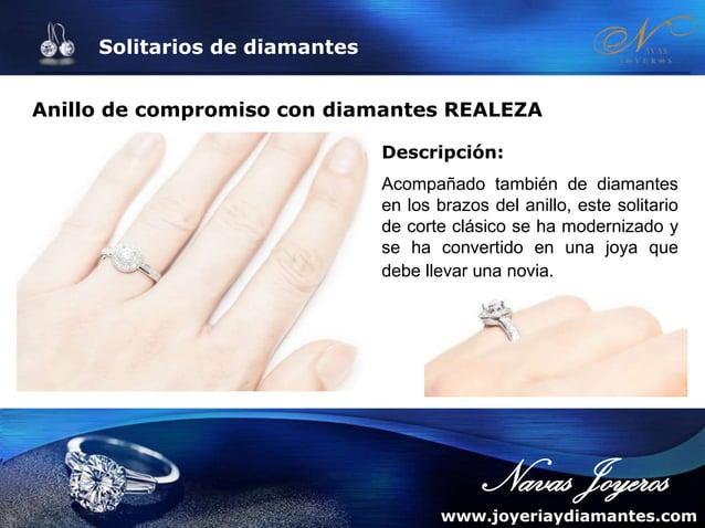 Solitarios de diamantes Anillo con diamante princesa ÁFRICA Descripción: Anillo con diamante princesa central y deslumbran...