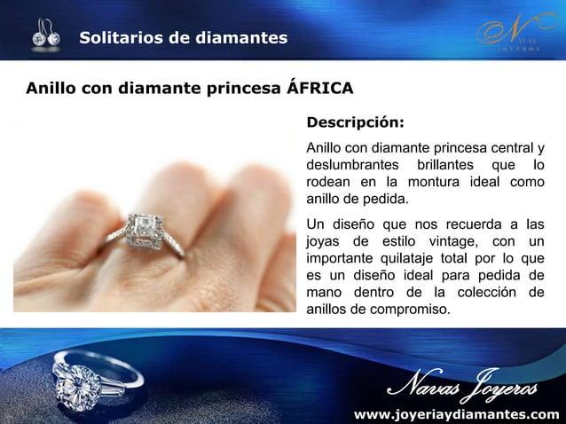 Solitarios de diamantes Anillo solitario de compromiso HORUS Descripción: Solitario de compromiso de diseño con diamante c...