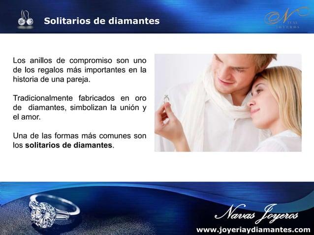 Solitarios de diamantes Los solitarios de compromiso, al igual que el resto de joyas, son un símbolo más de estilo y perso...