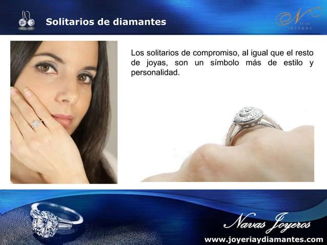 Solitarios de diamantes Solitario de oro y diamantes RÉPLICA Descripción: Cuenta con una montura que realza el diamante en...