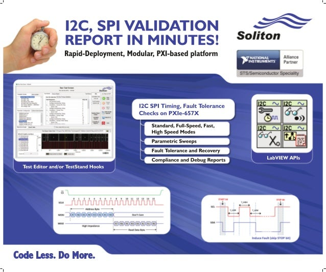 PXI based I2C / SPI Protocol Validation Software Suite