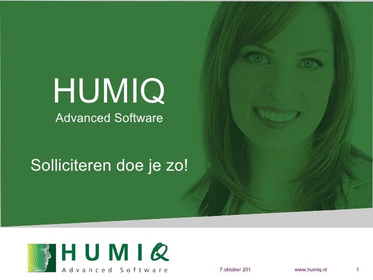HUMIQ Advanced Software Solliciteren doe je zo!