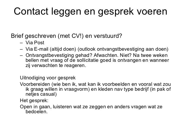 sollicitatiebrief via de mail