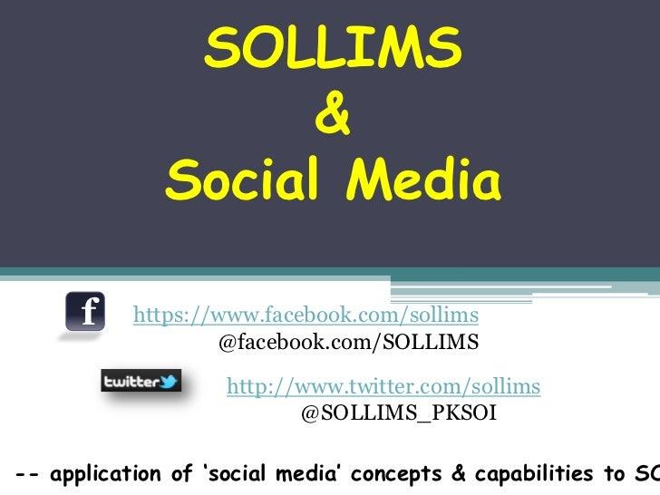 SOLLIMS                    &              Social Media      f    https://www.facebook.com/sollims                   @faceb...
