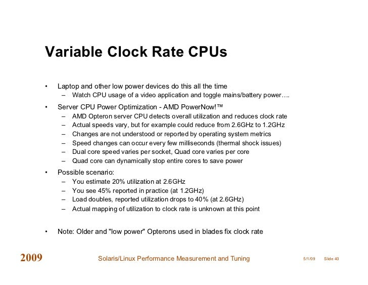 Solaris Linux Performance, Tools and Tuning