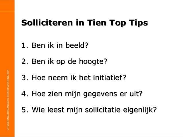 Sollicitatie tips Nederlandse Carrièredagen