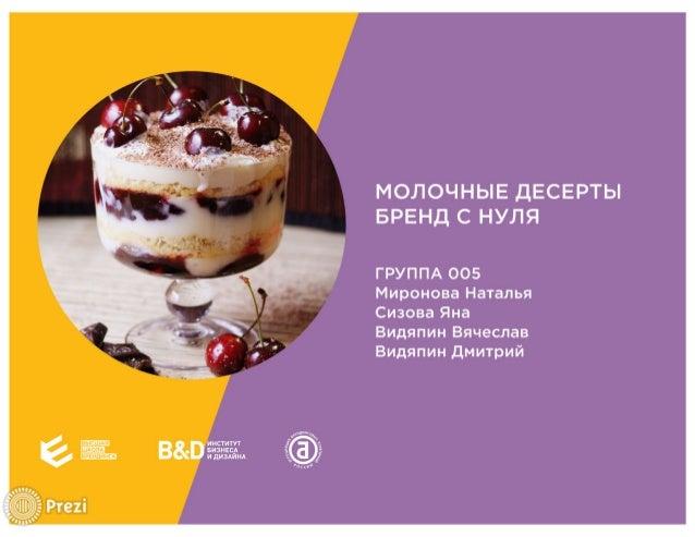 Битва 1.0 - Молочные десерты