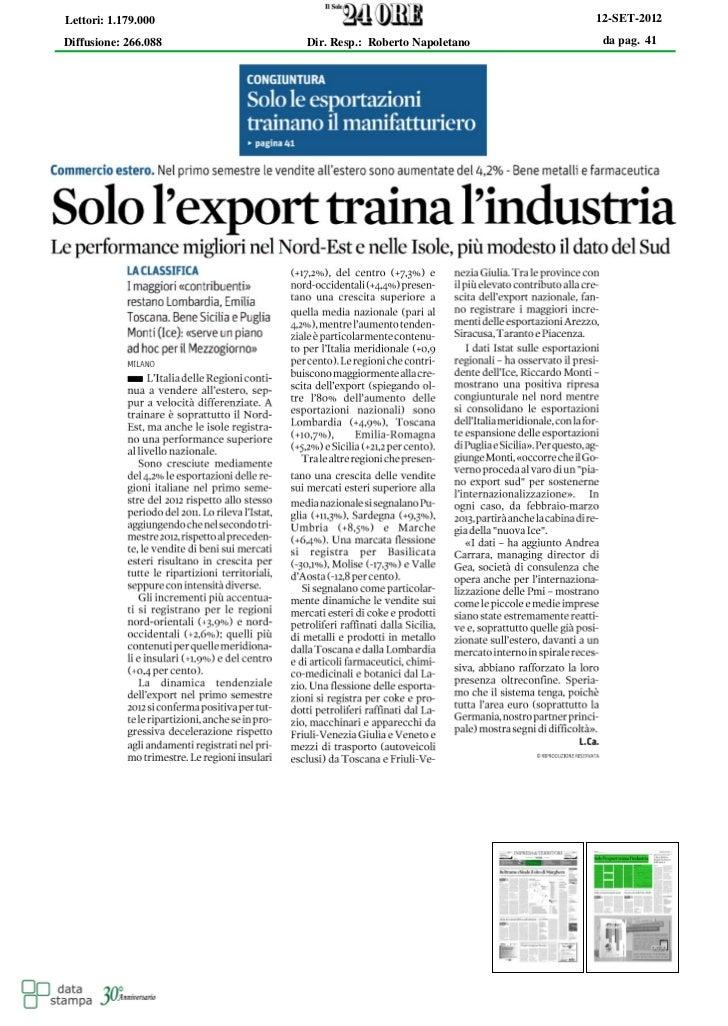 Lettori: 1.179.000                                     12-SET-2012Diffusione: 266.088   Dir. Resp.: Roberto Napoletano    ...