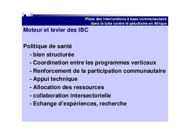Place Des Interventions 224 Base Communautaire Pour La Lutte