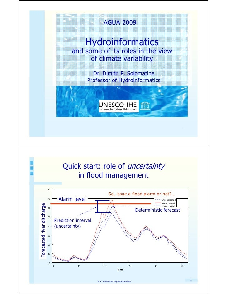 AGUA 2009                                                          Hydroinformatics                                       ...