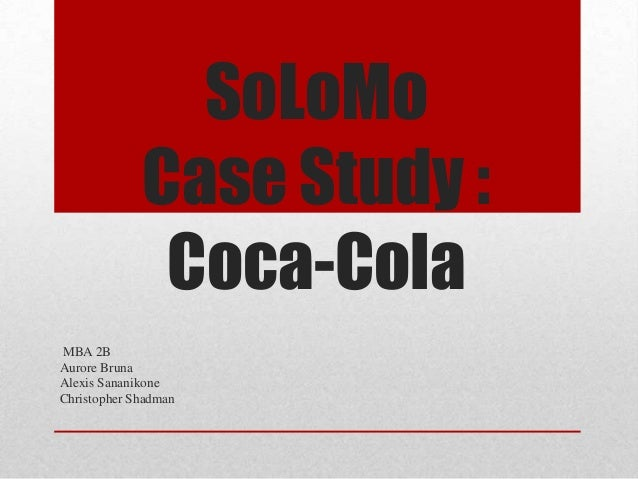 Coca-Cola on Facebook Case Solution & Answer