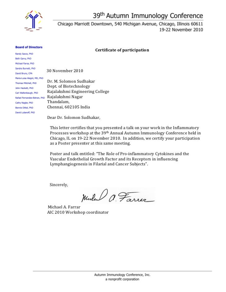 Solomon Participation Confirmation Letter 1