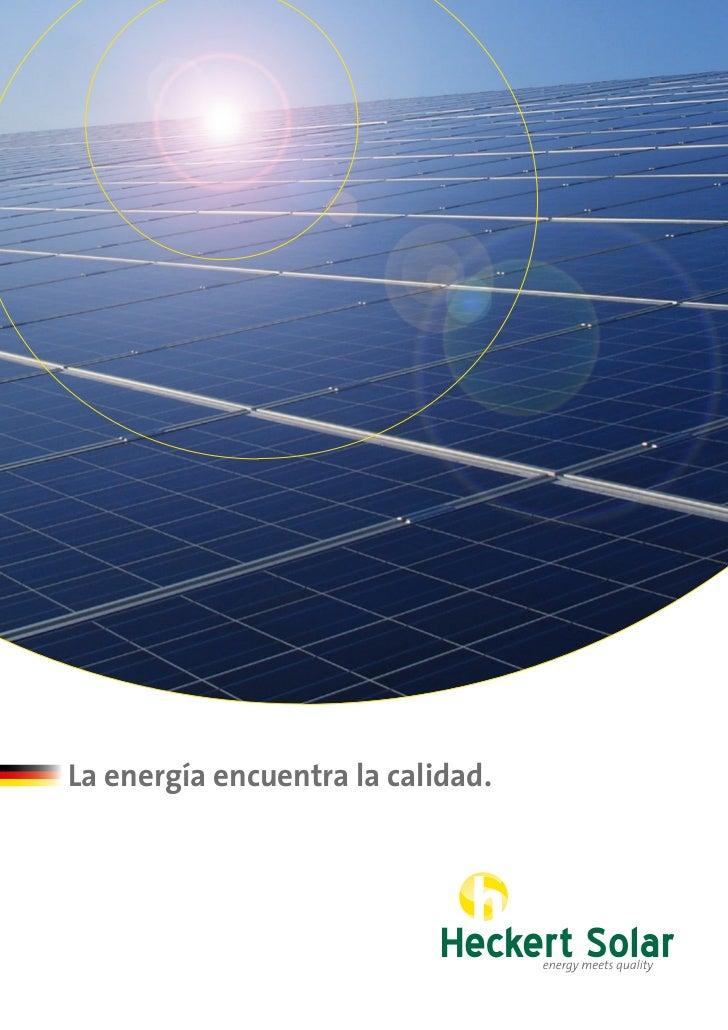 La energía encuentra la calidad.
