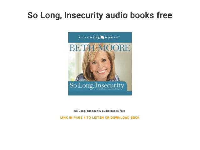 so long insecurity audio book