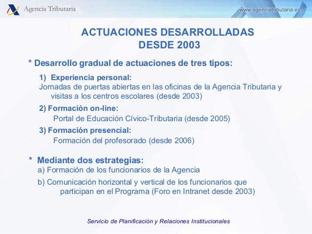 Programa de educaci n c vico tributaria agencia for Oficinas de agencia tributaria madrid