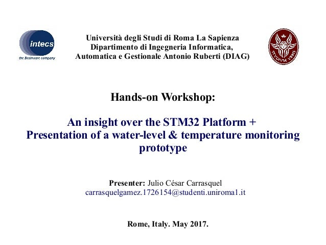 Introduction on STM32 Platform and Presentation of a Water-Level & Te…