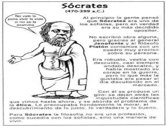 """SOCRATES (470 a 400 a.C.) """"CONOCETE A TÌ MISMO"""" • La sabiduría consiste en el conocimiento interior • La razón es humana y..."""