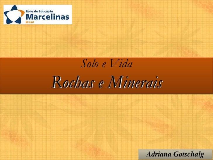 Solo e VidaRochas e Minerais                  Adriana Gotschalg