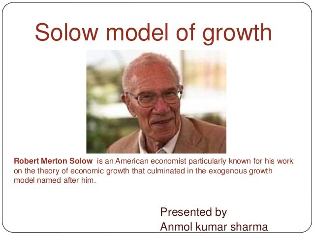 the solow growth model The solow growth model econ 504 roberto chang rutgers university  september 2012 r chang (rutgers university) solow model september 2012  1 / 18.