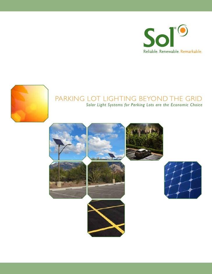 solar parking lot lighting brochure