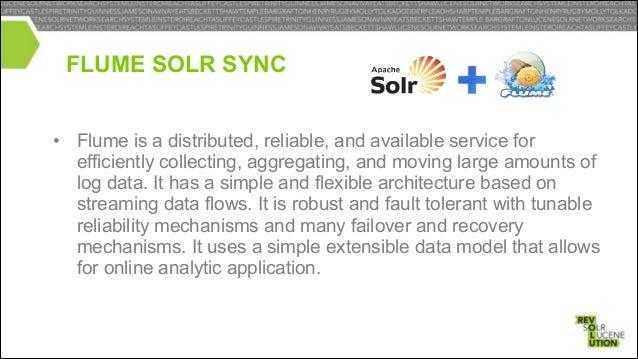 FLUME SOLR SYNC Logs  Other Flume  Flume  Solr HDFS