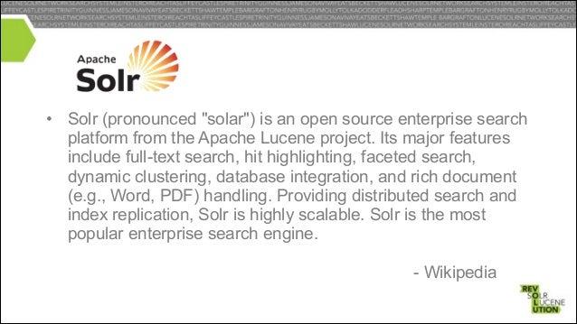 SEARCH ON HADOOP HISTORY • • • • • • •  Katta Blur SolBase HBASE-3529 SOLR-1301 SOLR-1045 Ad-Hoc