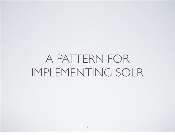 Solr pattern