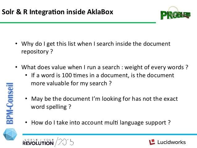 Aklabox PresentaHon Standard Search Interface; 9.