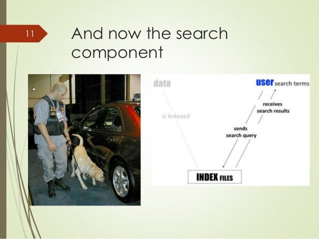 And now the search  component  11