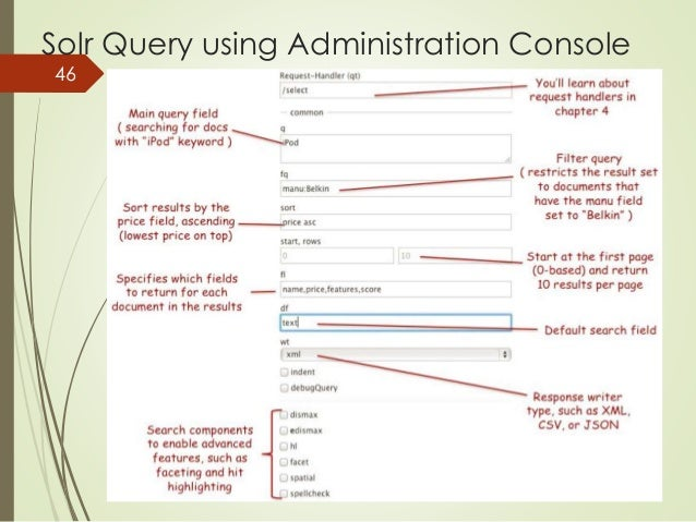 Solr Query using Administration Console  46