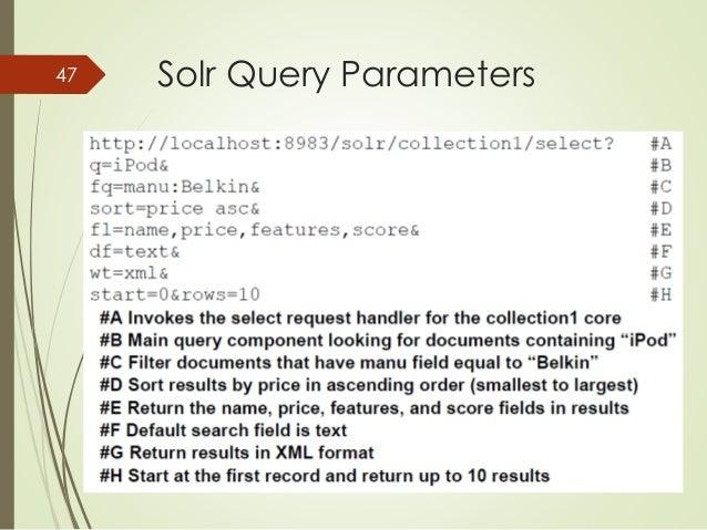 47 Solr Query Parameters