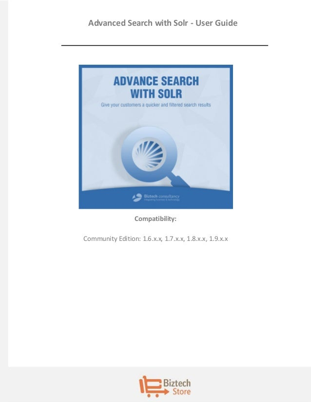 Advanced search with solr user guide for Advanced home search