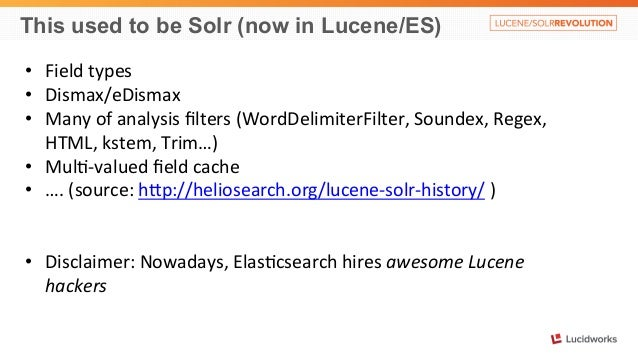 Solr vs. Elasticsearch,  Case by Case: Presented by Alexandre Rafalovitch, UN Slide 3