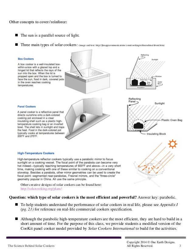 SolSource Lesson Plan: The Science Behind Solar Cookers Slide 3