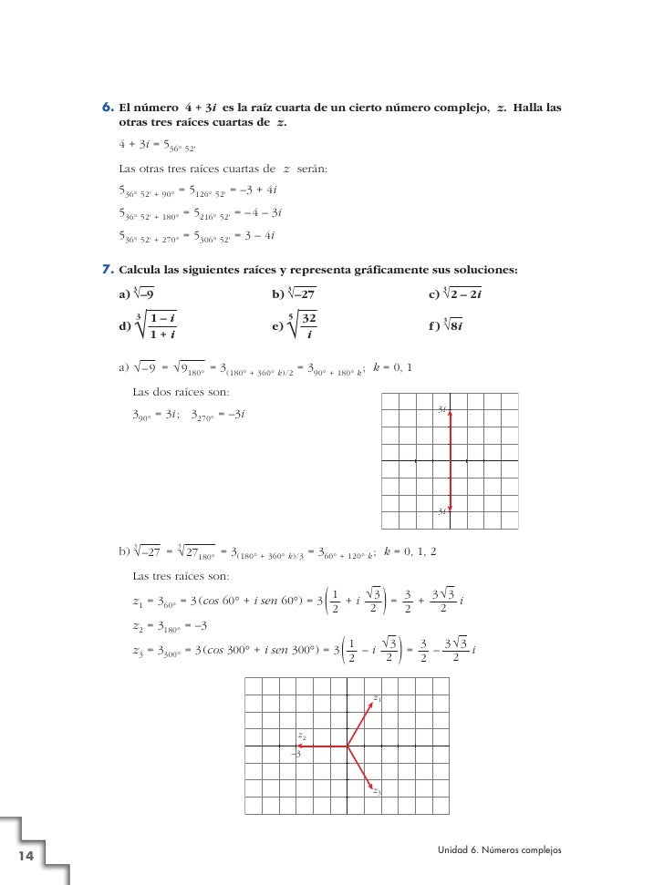 SOLUCIONES TEMA COMPLEJOS