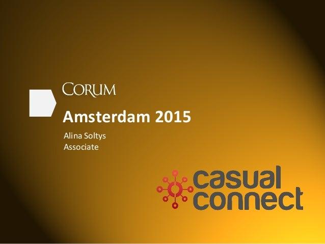 Amsterdam  2015   Alina  Soltys   Associate