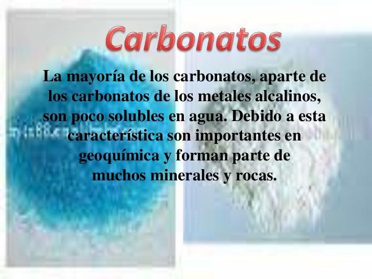 que son los carbonatos