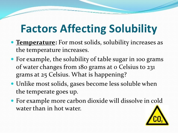 Solubility Chart Example A Definition Of Solubility Solubility A