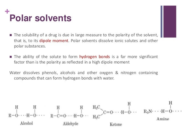 list of polar and nonpolar solvents pdf