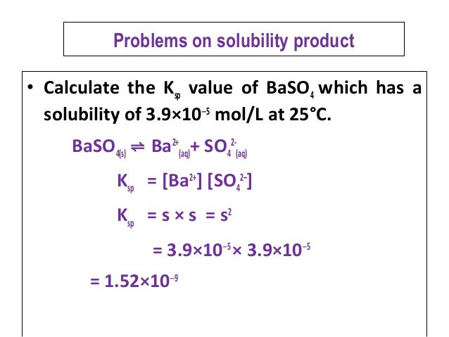 gen chem 2 solubility product constant General chemistry examination committee by an experi-  hg(scn)2 has log  ksp= 1956, so the sim- plistically calculated  the above equilibrium constants.
